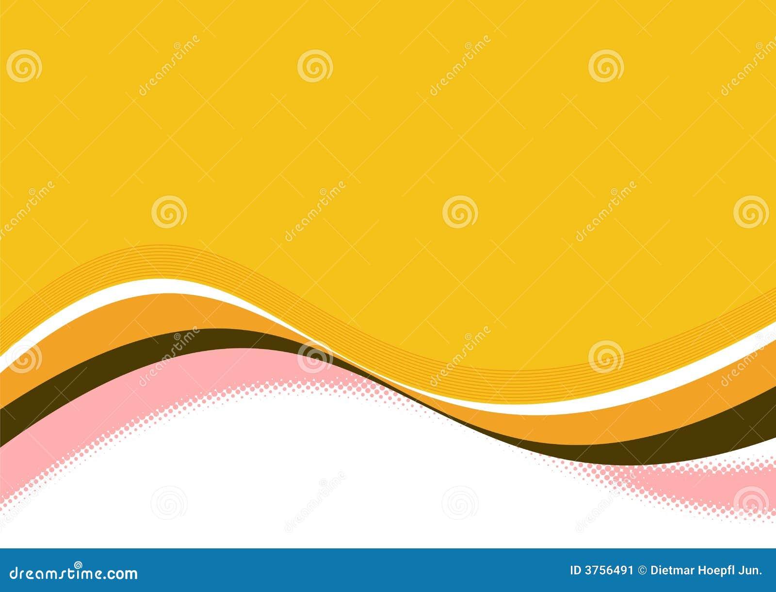 Lignes ondulées oranges
