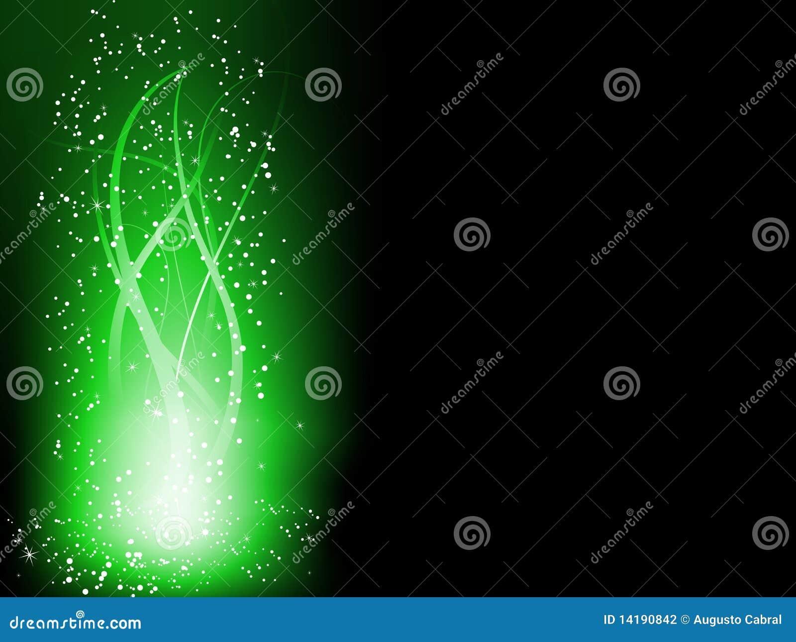 Lignes rougeoyantes colorées vertes