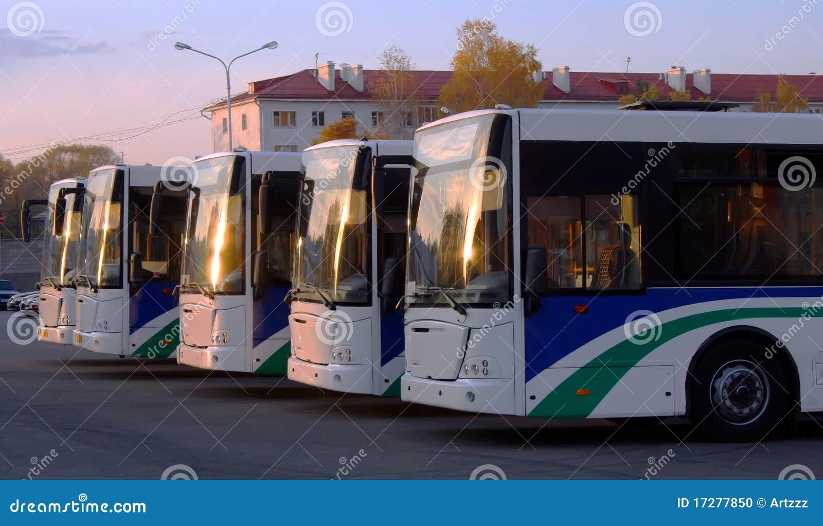 Lijn van bussen