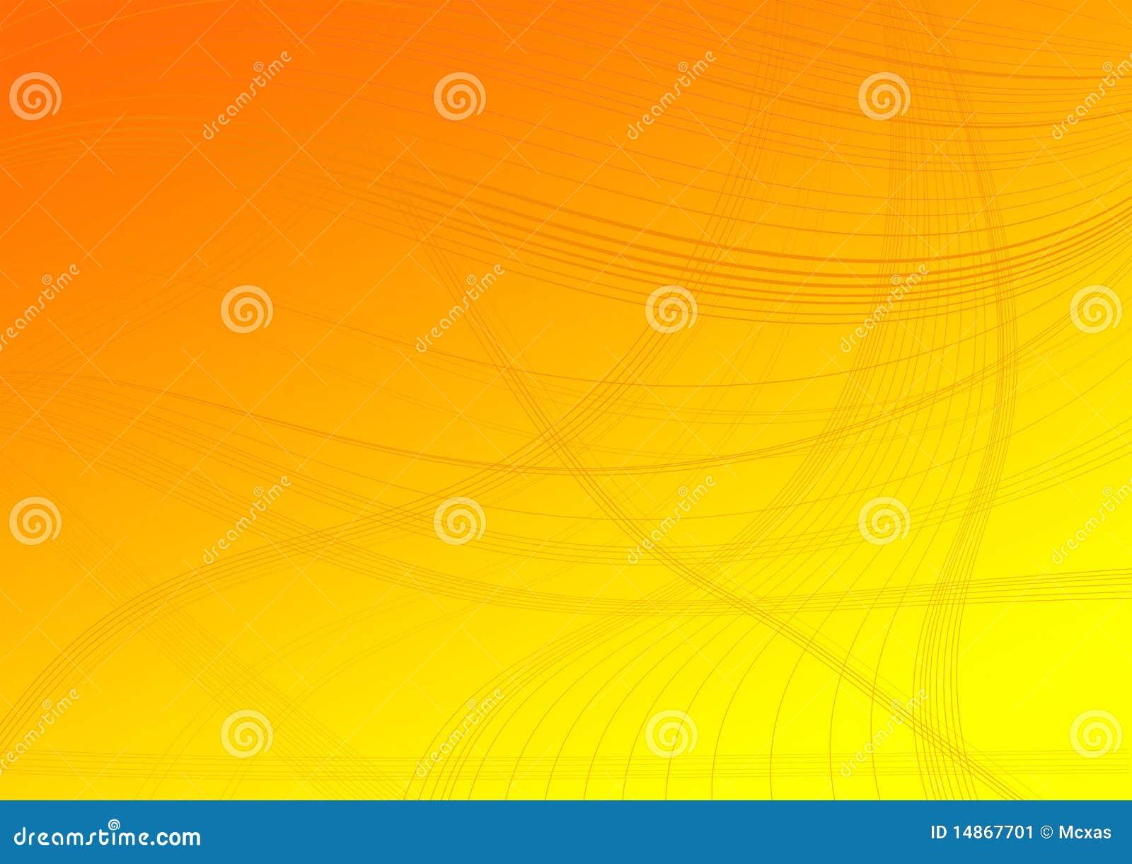 Lijnen op een oranje gedegradeerde achtergrond
