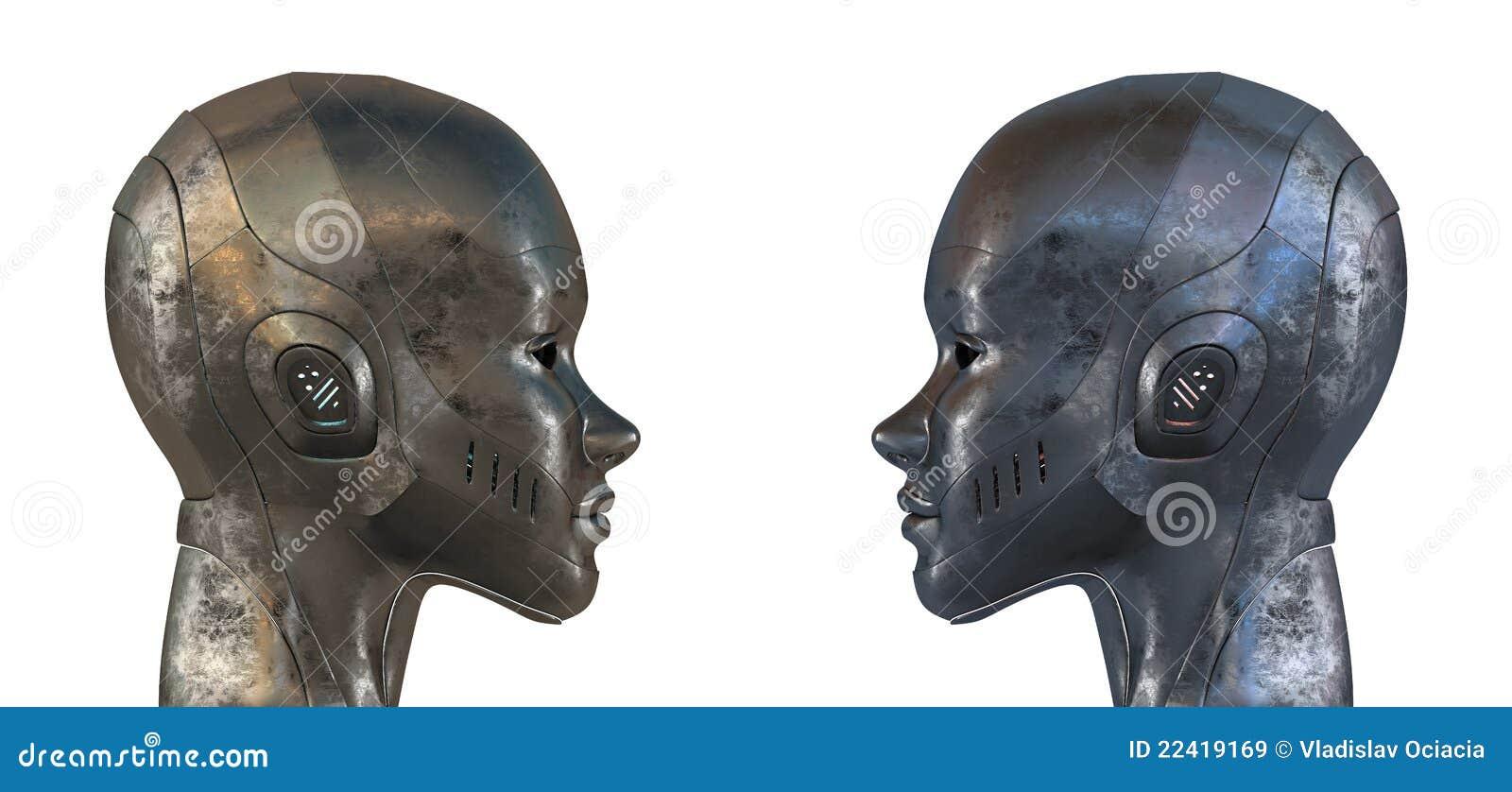 Lika profilrobotstål två