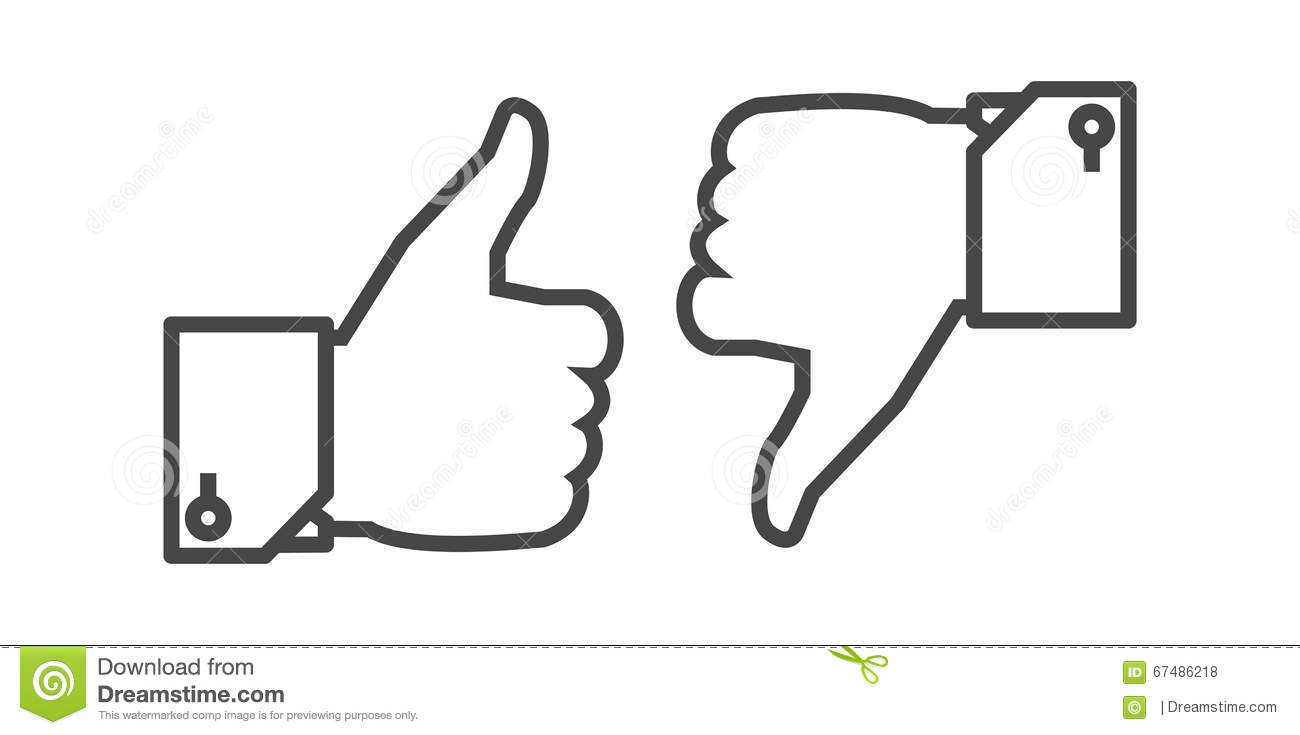 Like And Dislike Button Editorial Stock Photo Image