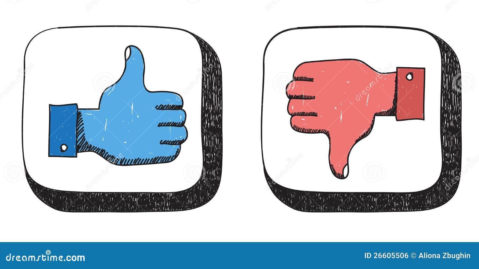 Like Dislike Icons Editorial Photo - Image: 26605506