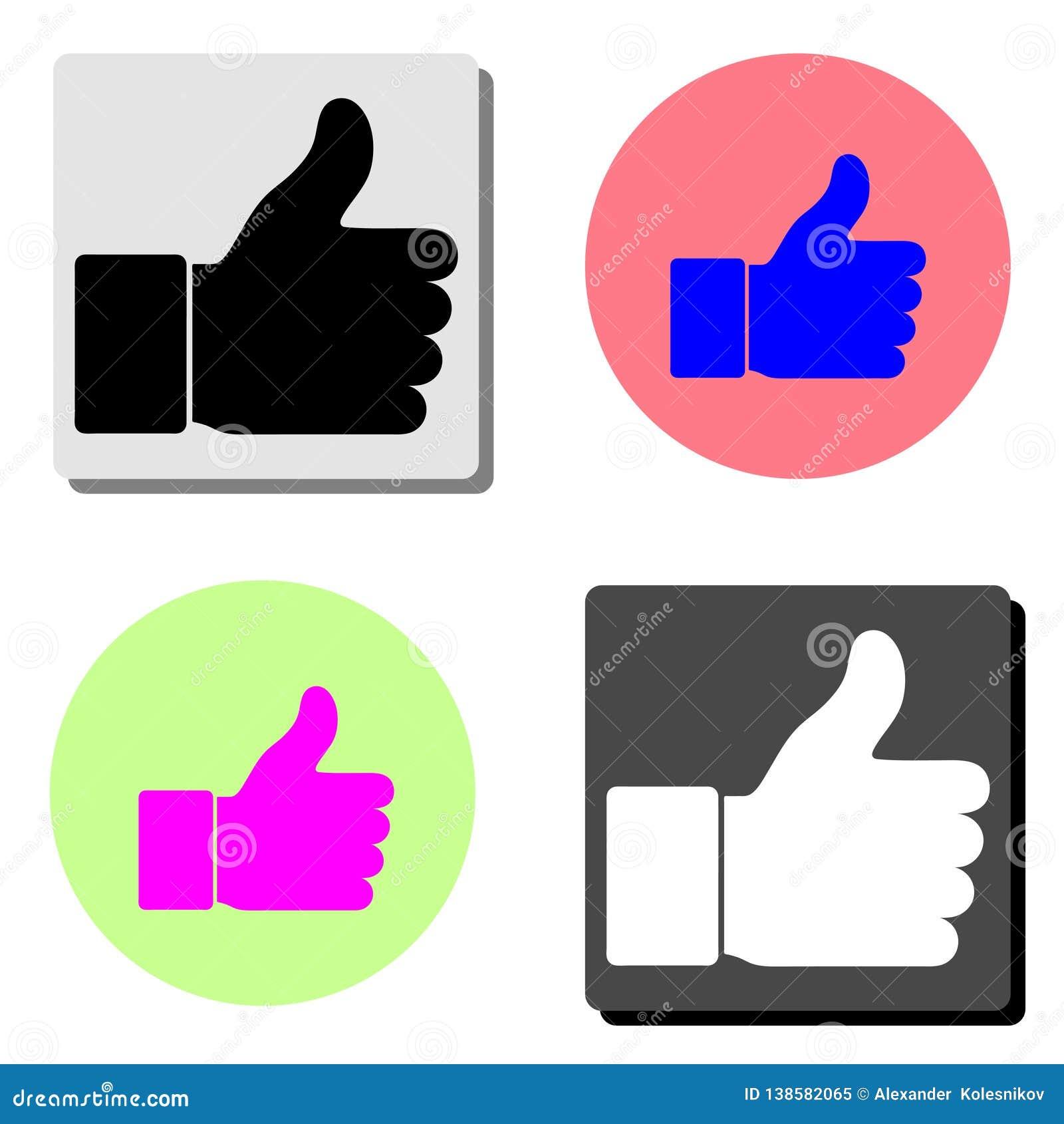 Like. flat vector icon