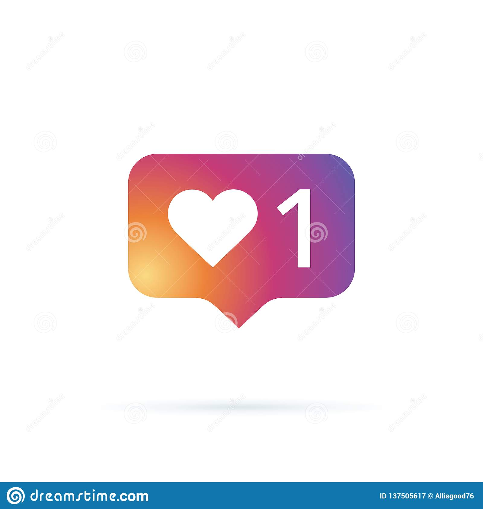 Like Icon Vector Social Media Like Vector Icon Instagram Like Notification Notification Icon Heart Network Icon Stock Illustration Illustration Of Networking Chat 137505617