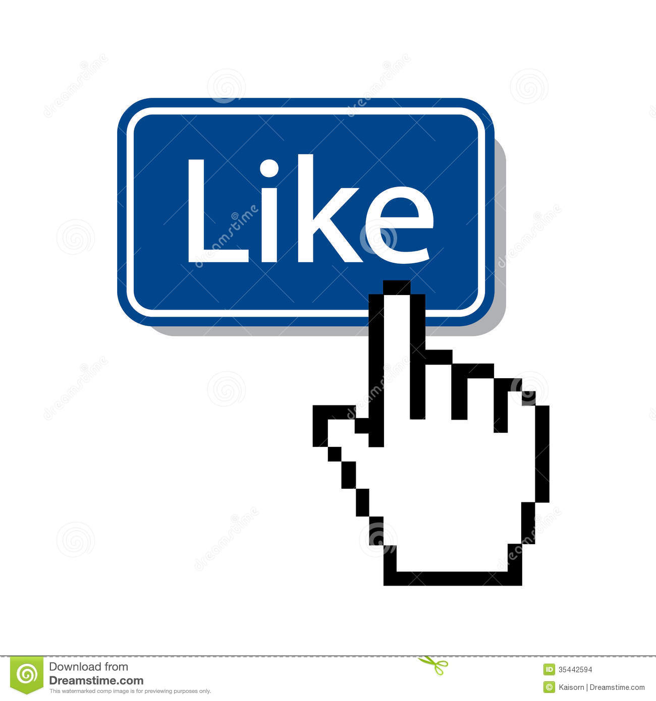 Like Mouse Cursor Pressing Like Button Editorial Stock