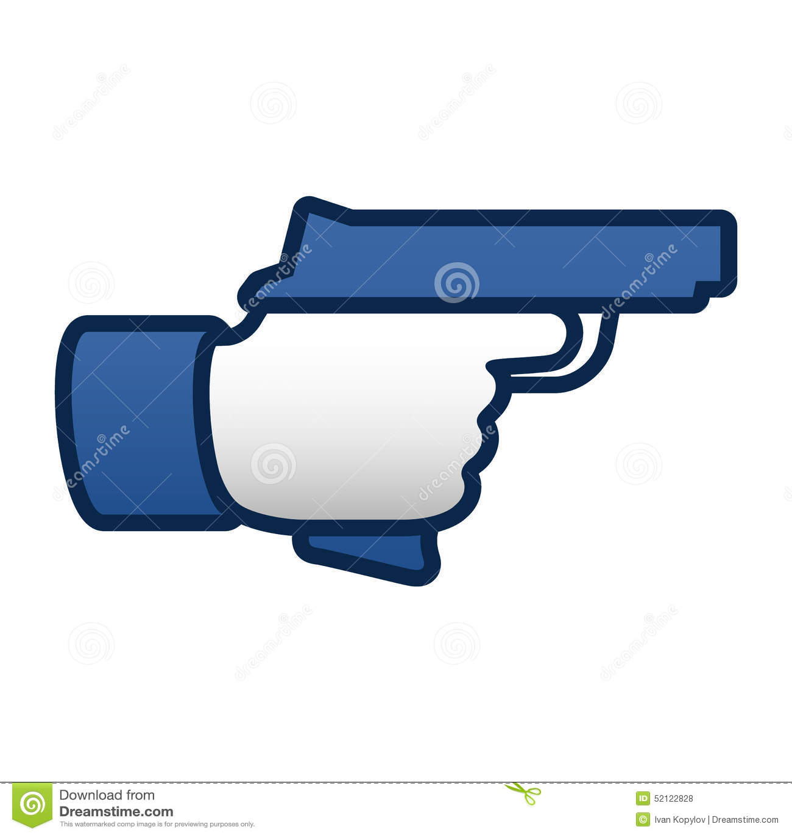 Like thumbs up symbol icon with gun stock vector illustration like thumbs up symbol icon with gun biocorpaavc