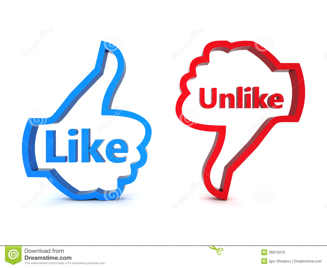 Like And Unlike Royalty Free Stock Image Image 26815016