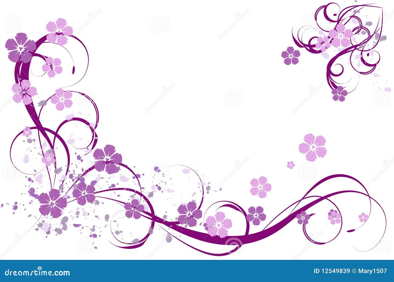 Lila muster vektor abbildung illustration von kurven for Mural de flores y mariposas