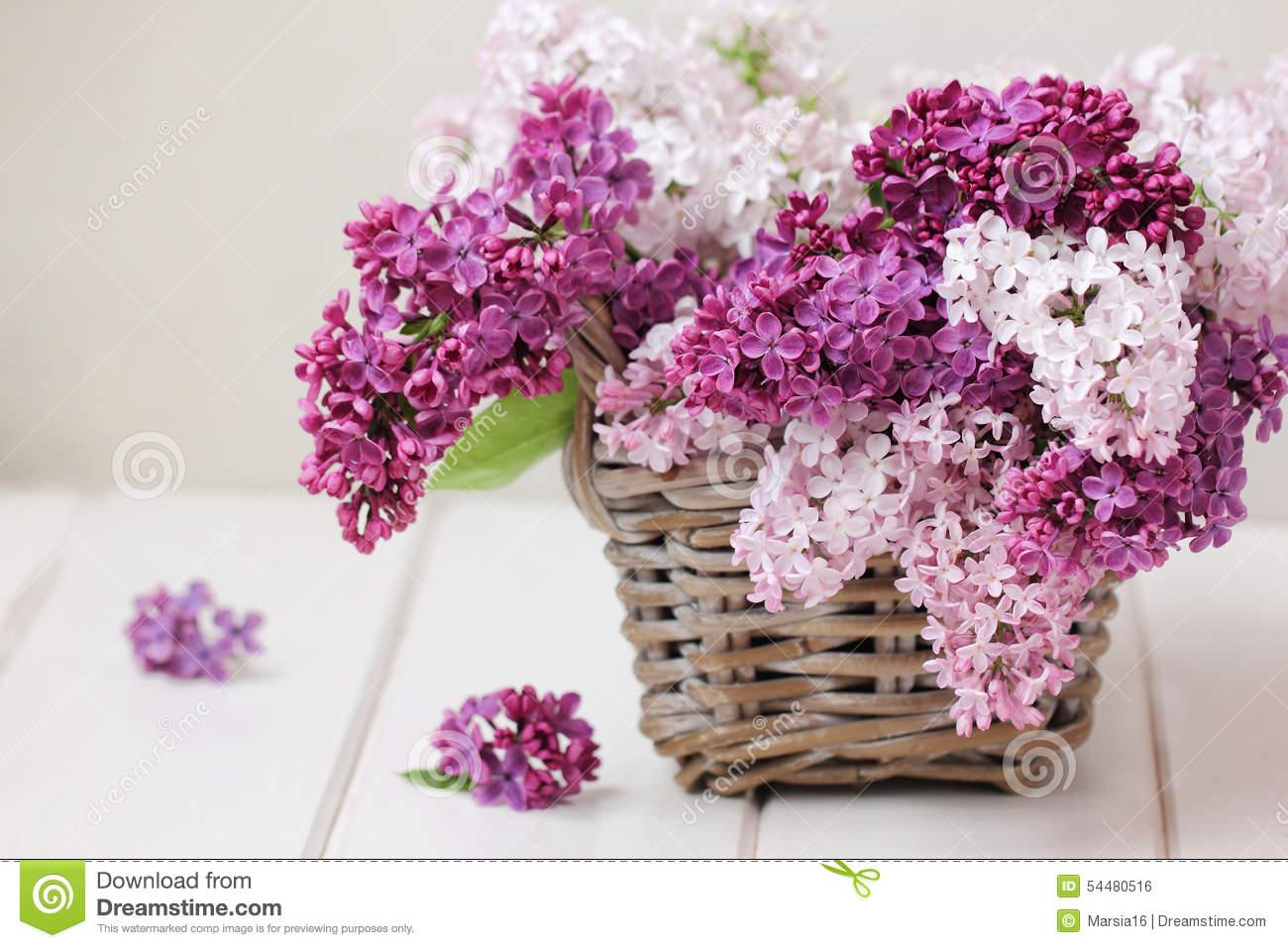 Flowers bouquet stock images 483764 photos lilac flowers bouquet on wooden plank background royalty free stock image izmirmasajfo