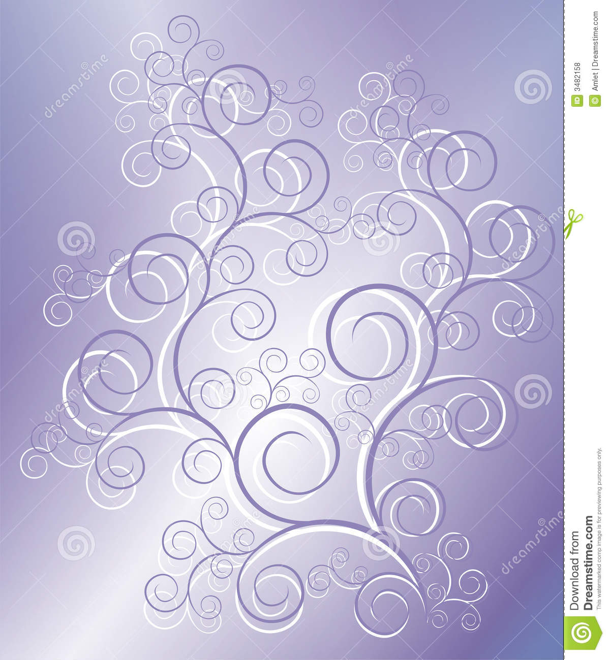 The figure representing a pattern from lilac and white curls and white ...