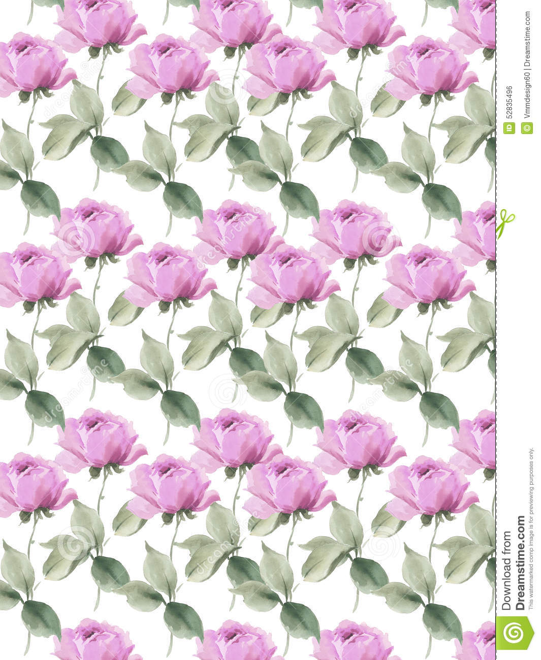 Lilac Roses English Garden Seamless Background Colorful Decorative ...