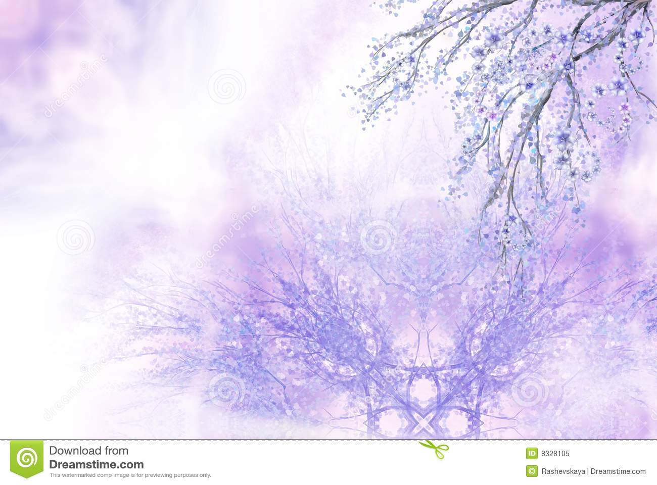 Lilac spring background
