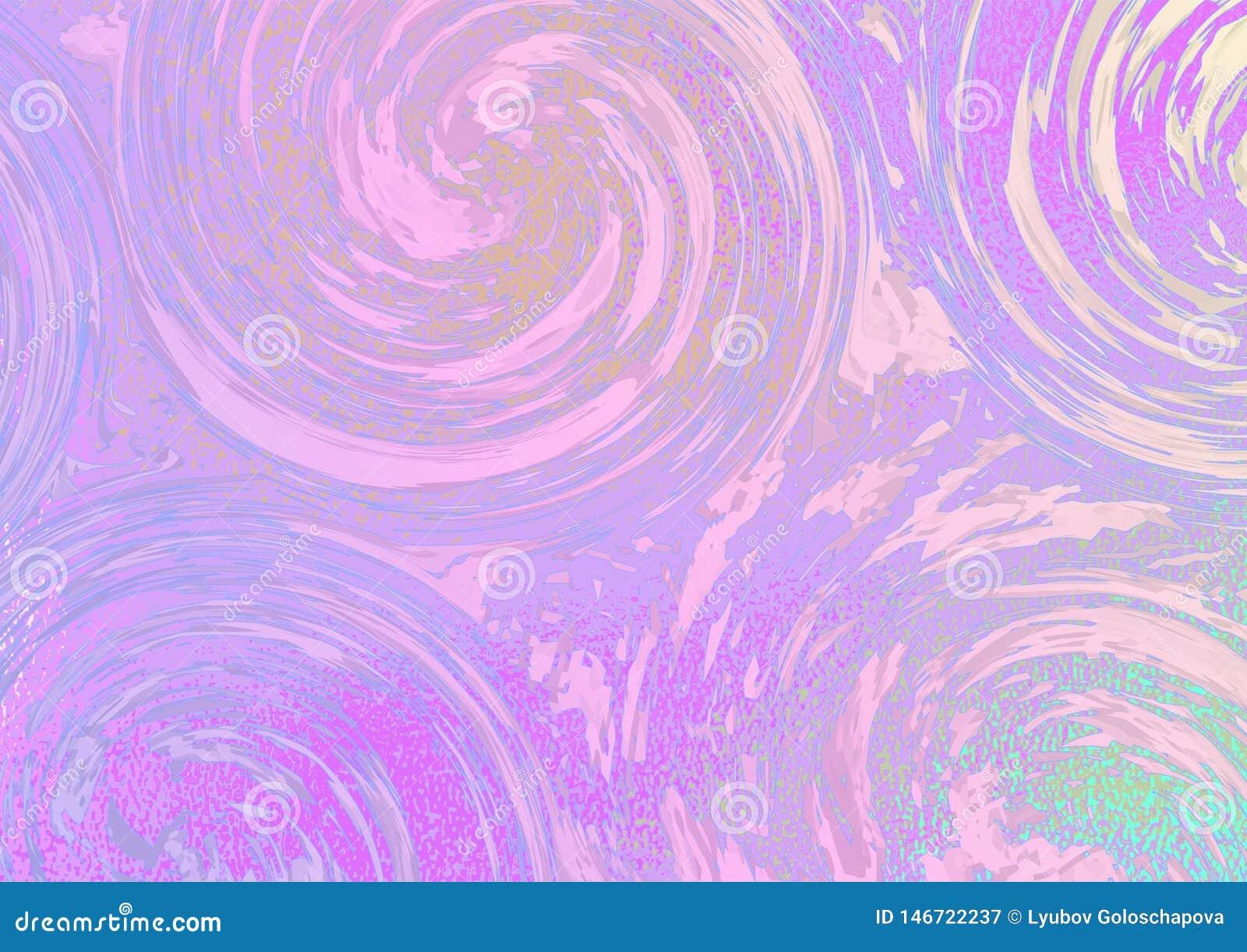 Lilan virvlar runt på en ljus rosa färg-gräsplan bakgrund