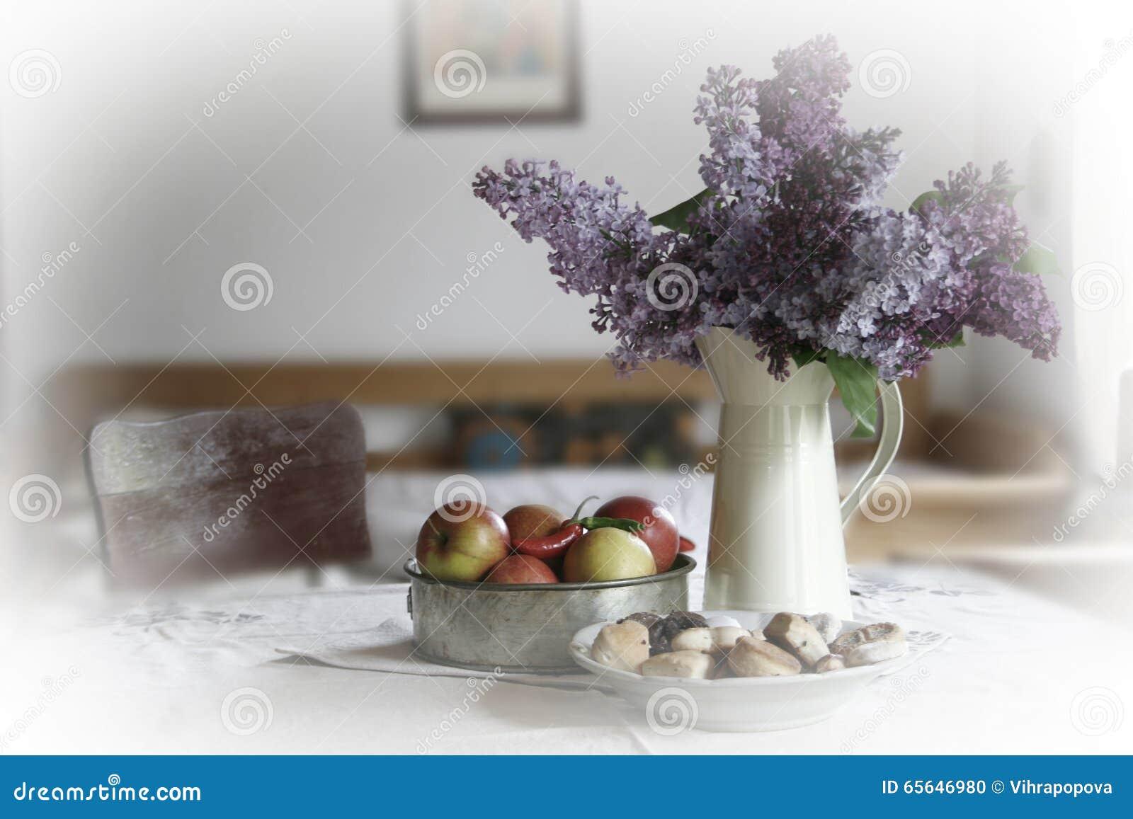 Lilas et pommes