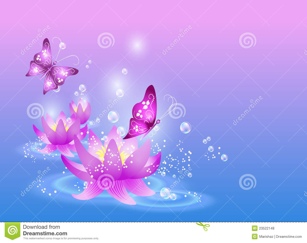 Lilies And Butterfly Royalty Free Stock Photos Image 23522148