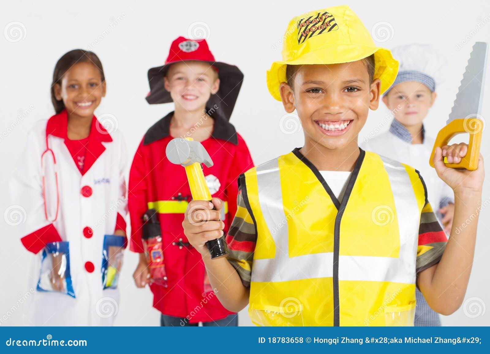 Lilla arbetare för grupp