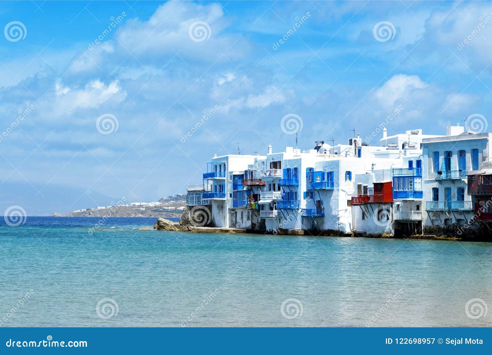 Lilla Venedig på Mykonos Grekland
