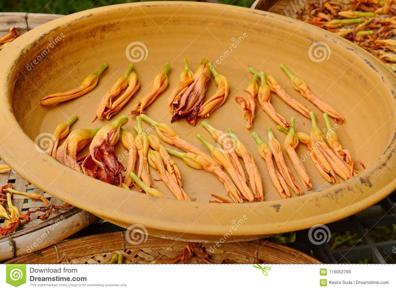 Lily flower in basket bring flowers to dry lily stock image lily flower in basket bring flowers to dry lily use to cook izmirmasajfo