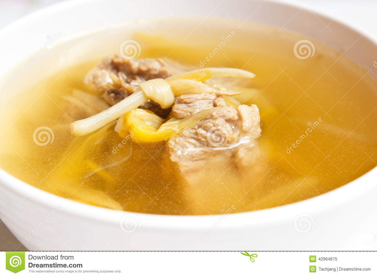 Lily flower and sparerib soup stock image image of asian meat royalty free stock photo izmirmasajfo