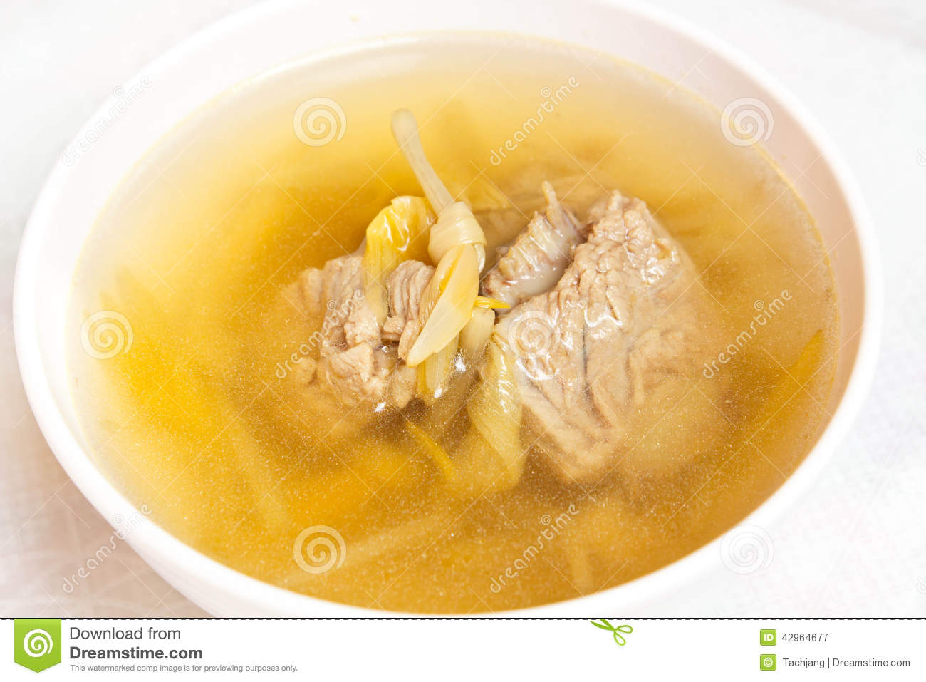Lily flower and sparerib soup stock image image of tasty white royalty free stock photo izmirmasajfo Gallery