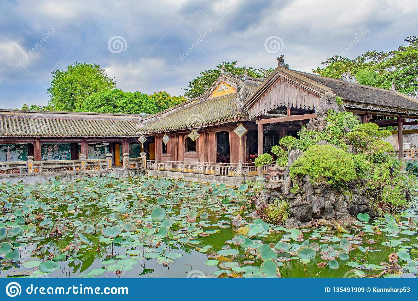 The Lily Pond at Tomb of Emperor Minh Mang,Vietnam