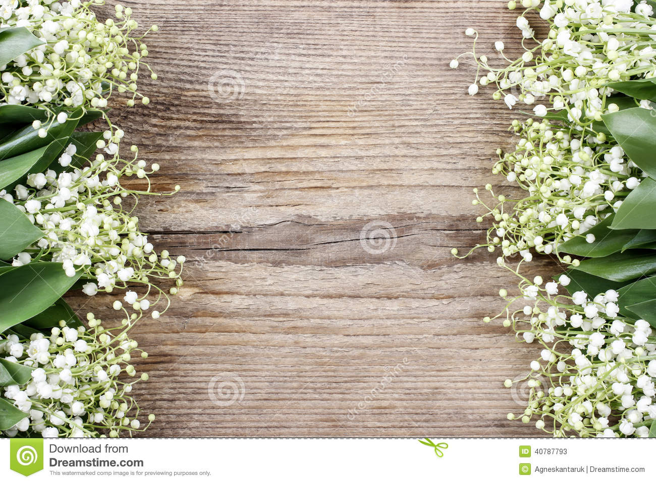 Lily of the valley flowers on wooden background stock image image royalty free stock photo izmirmasajfo Choice Image