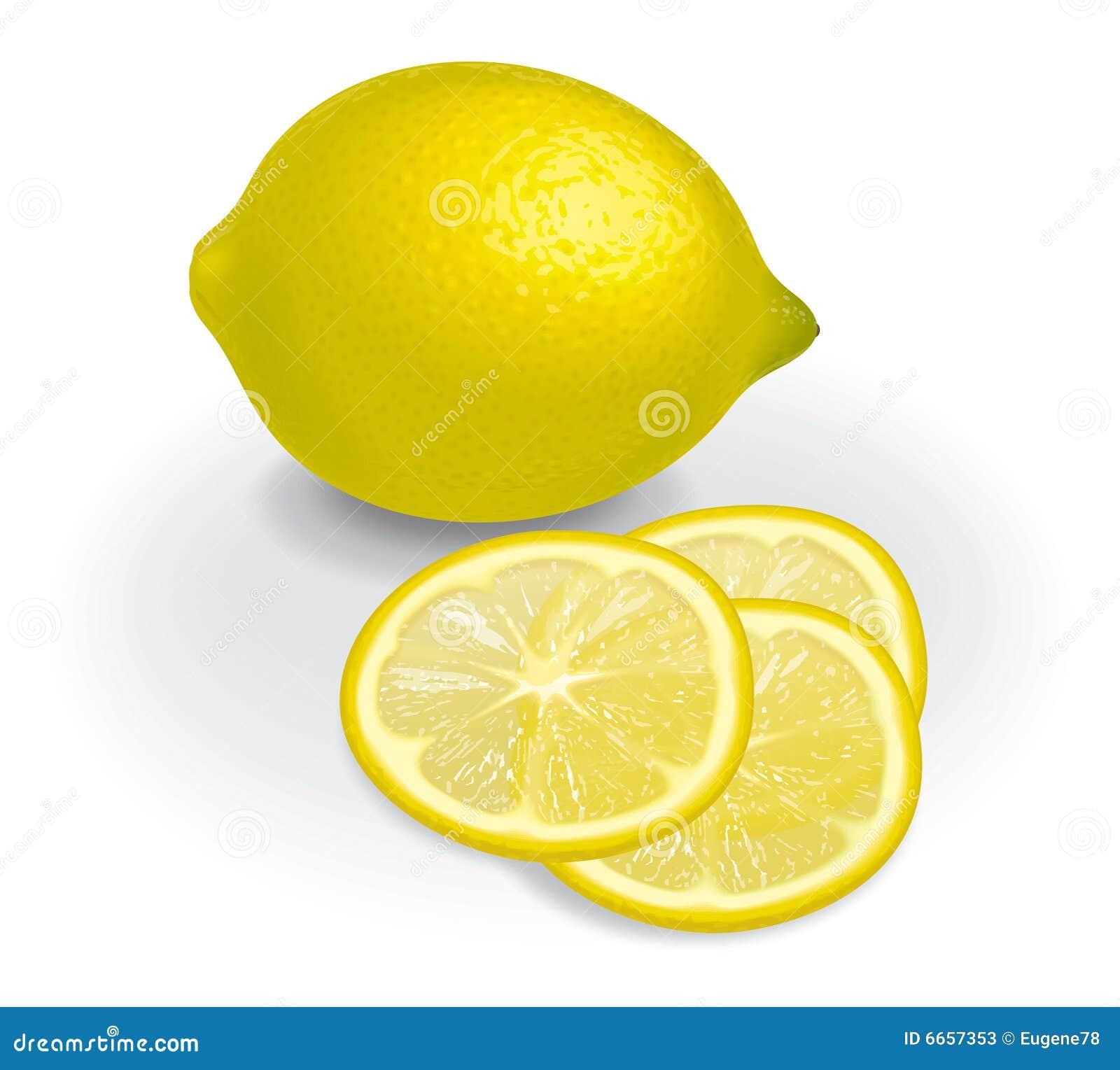 Limão e fatias transparentes