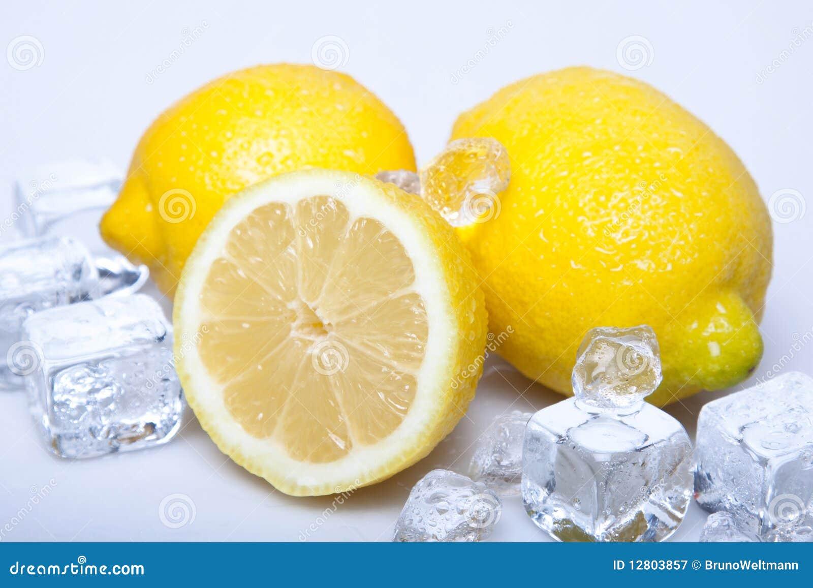 Limões gelados