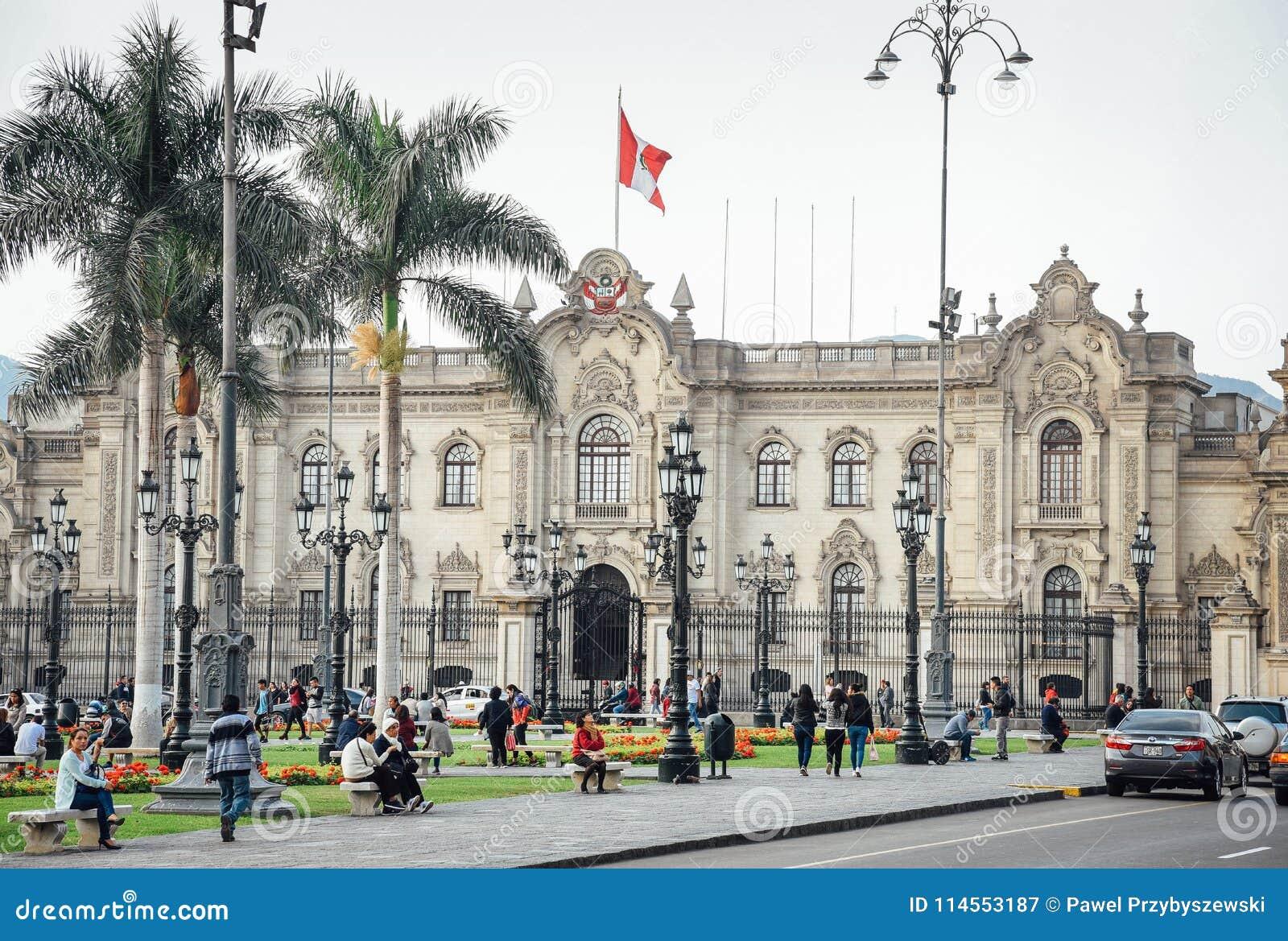 Lima/Peru - 07 18 2017: Ansicht am Präsidentenpalast