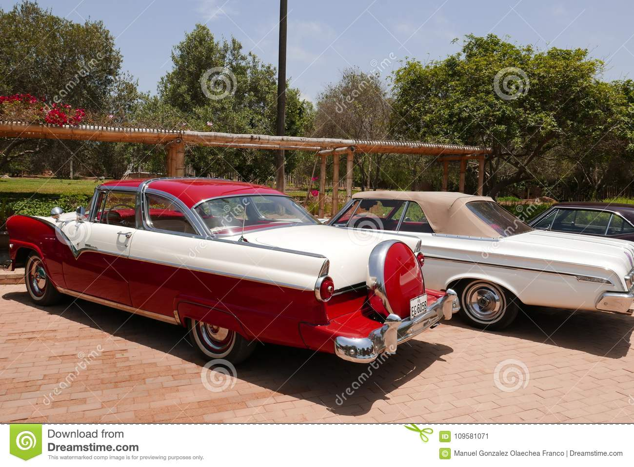 Download Ford Fairlane Crown Victoria Coupe Showed In Lima Editorial Photo Image Of Fashioned