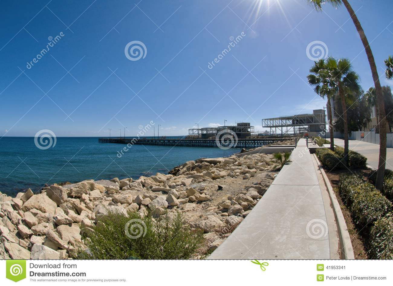Limassol deptaka aleja, schronienie, Cypr