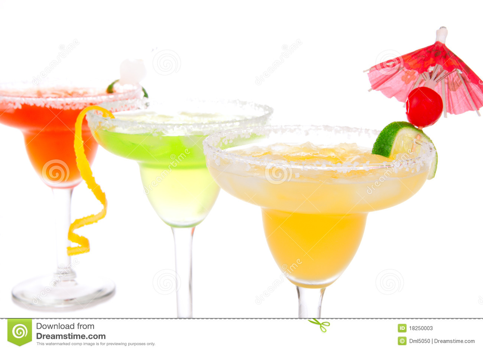 Lime, apple Margaritas cocktails composition