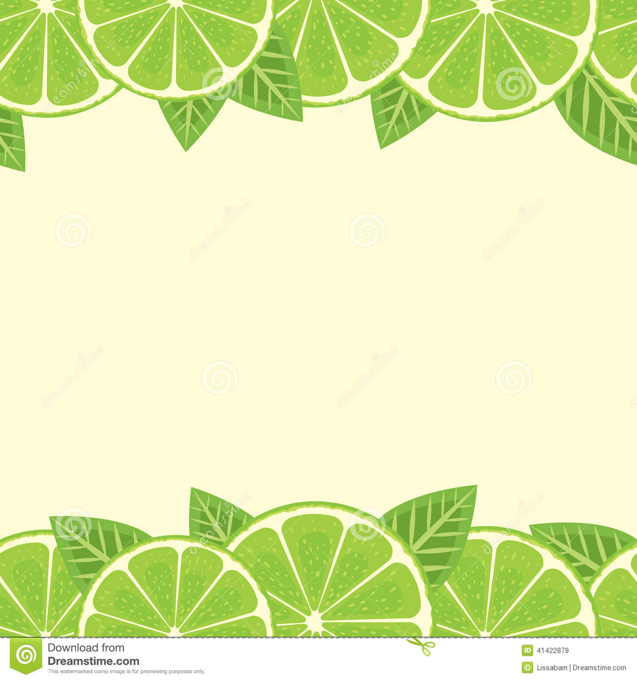 Lime border stock vector. Image of sour, edge, image - 41422879