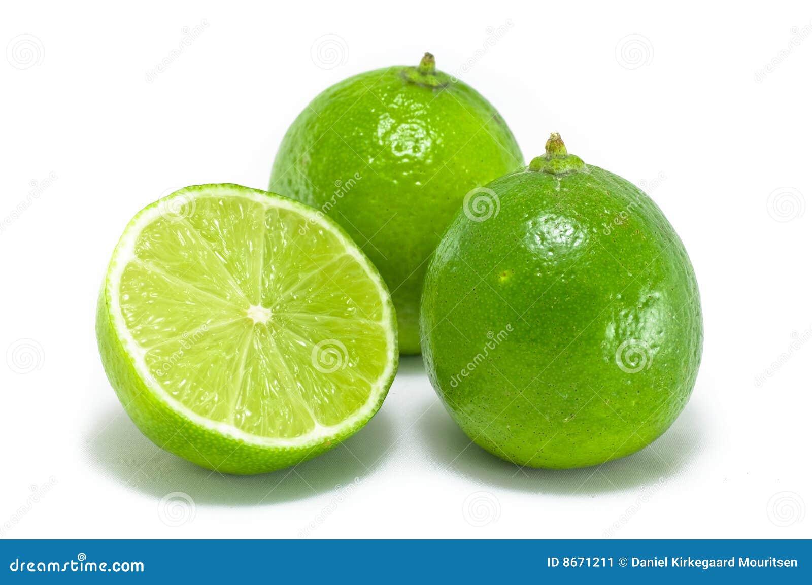 Lime fruits