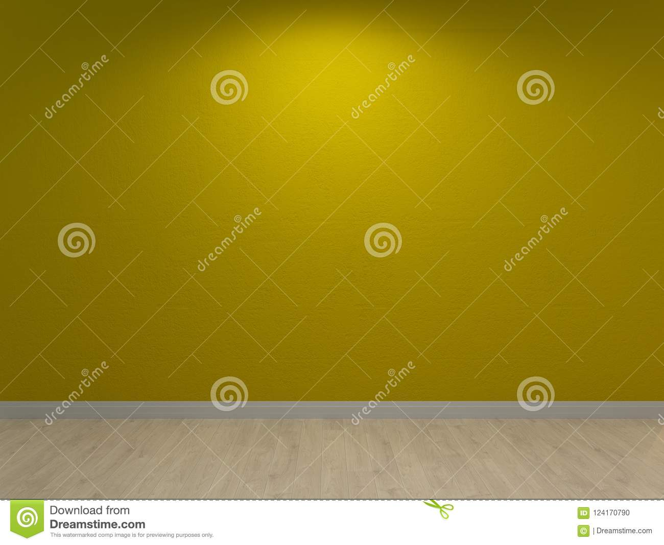 Lime Green Wall, Painted Interior Background Stock Illustration ...