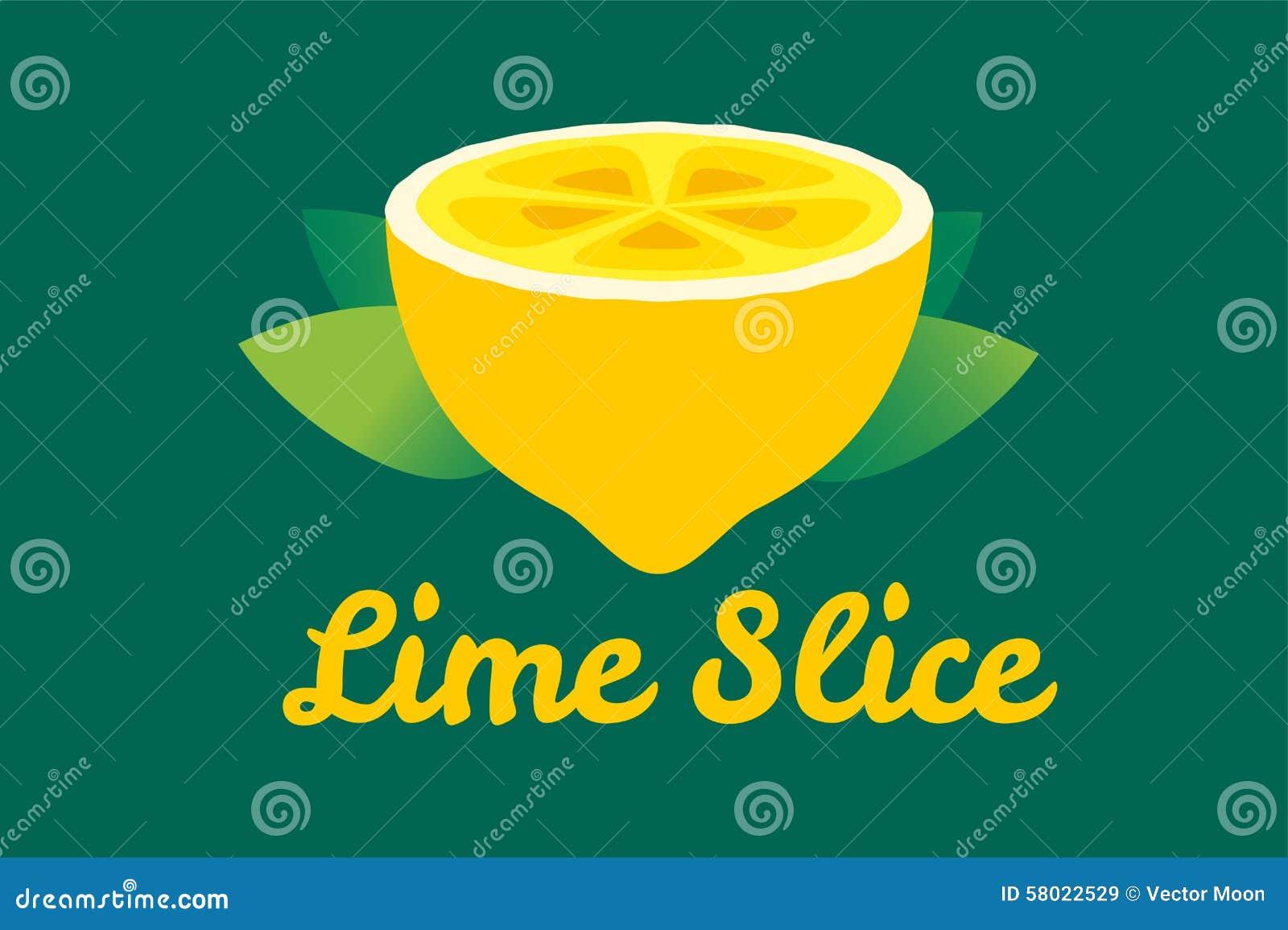 lime or lemon fruit slice lemonade juice logo stock