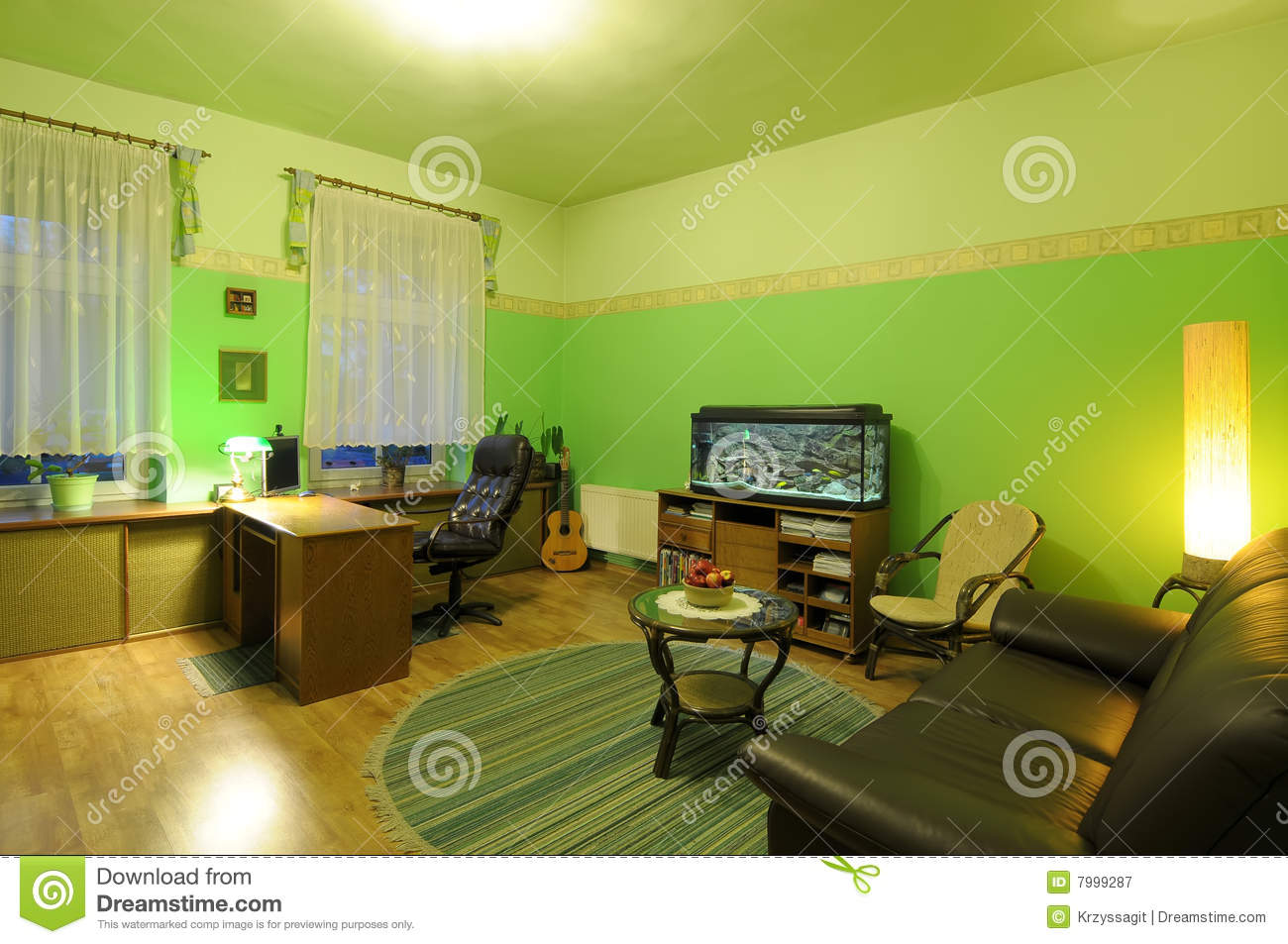 Lime living room royalty free stock photography image 7999287 for Lime green living room wallpaper