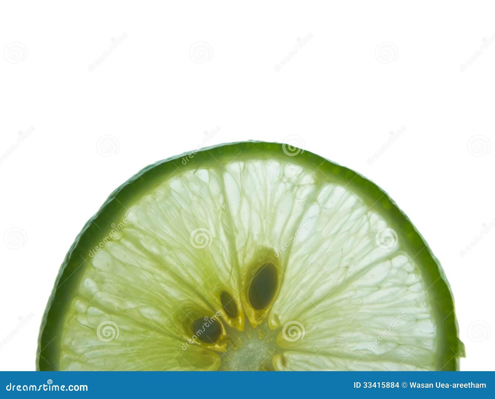 Lime Slice On White Background Stock Images - Image: 33415884