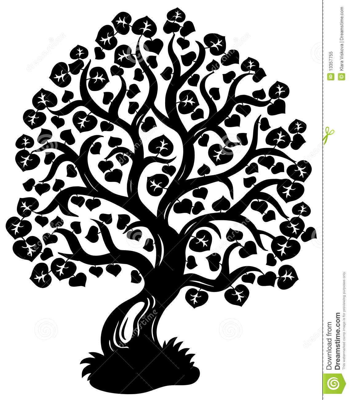 Tree Line Art Design : Lime tree silhouette stock vector illustration of outdoor
