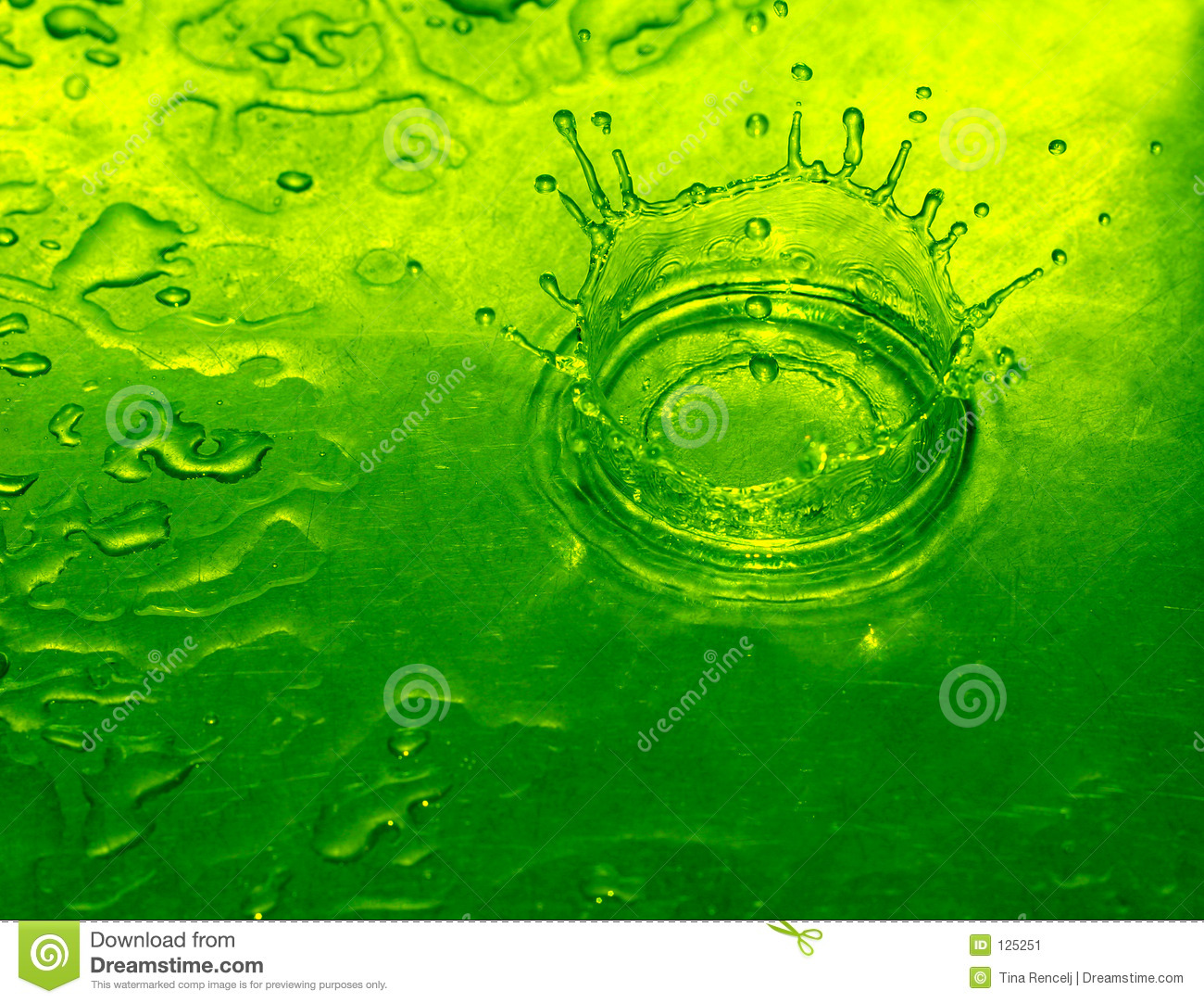 Lime Water Drop