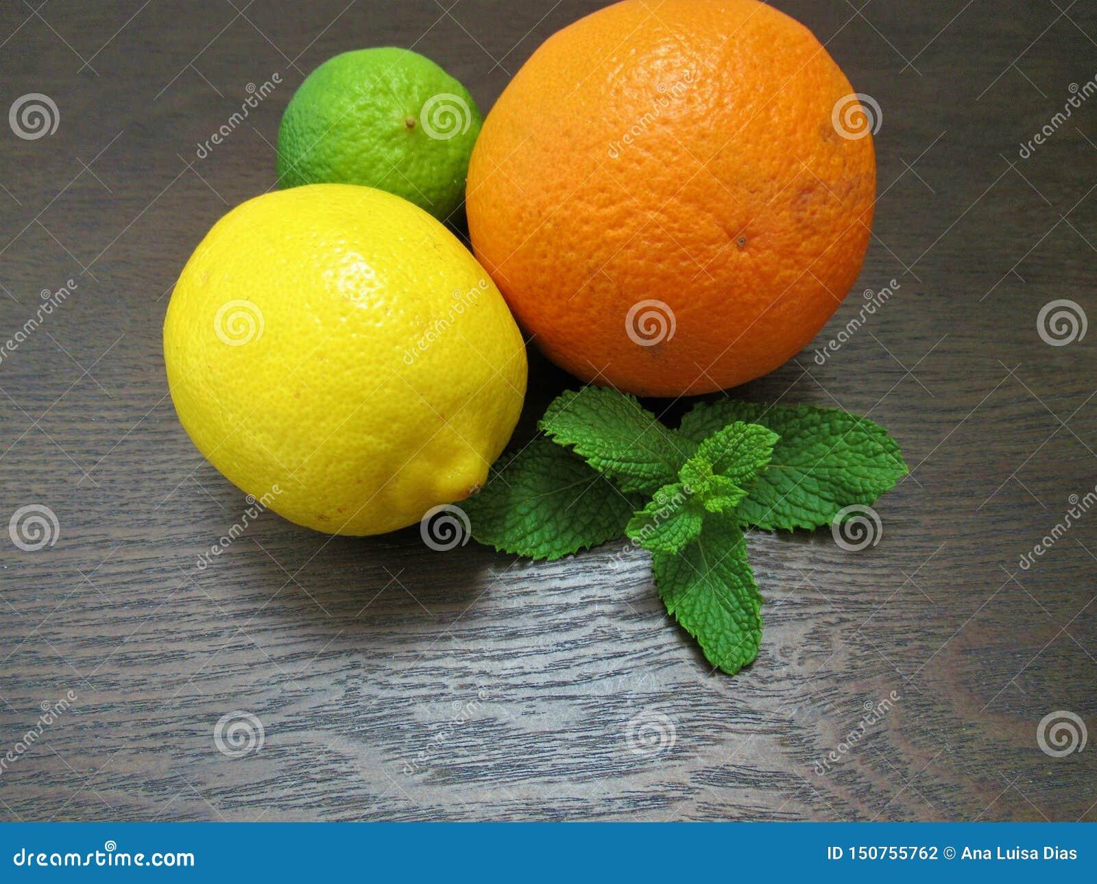 Limefrukt citron, apelsin