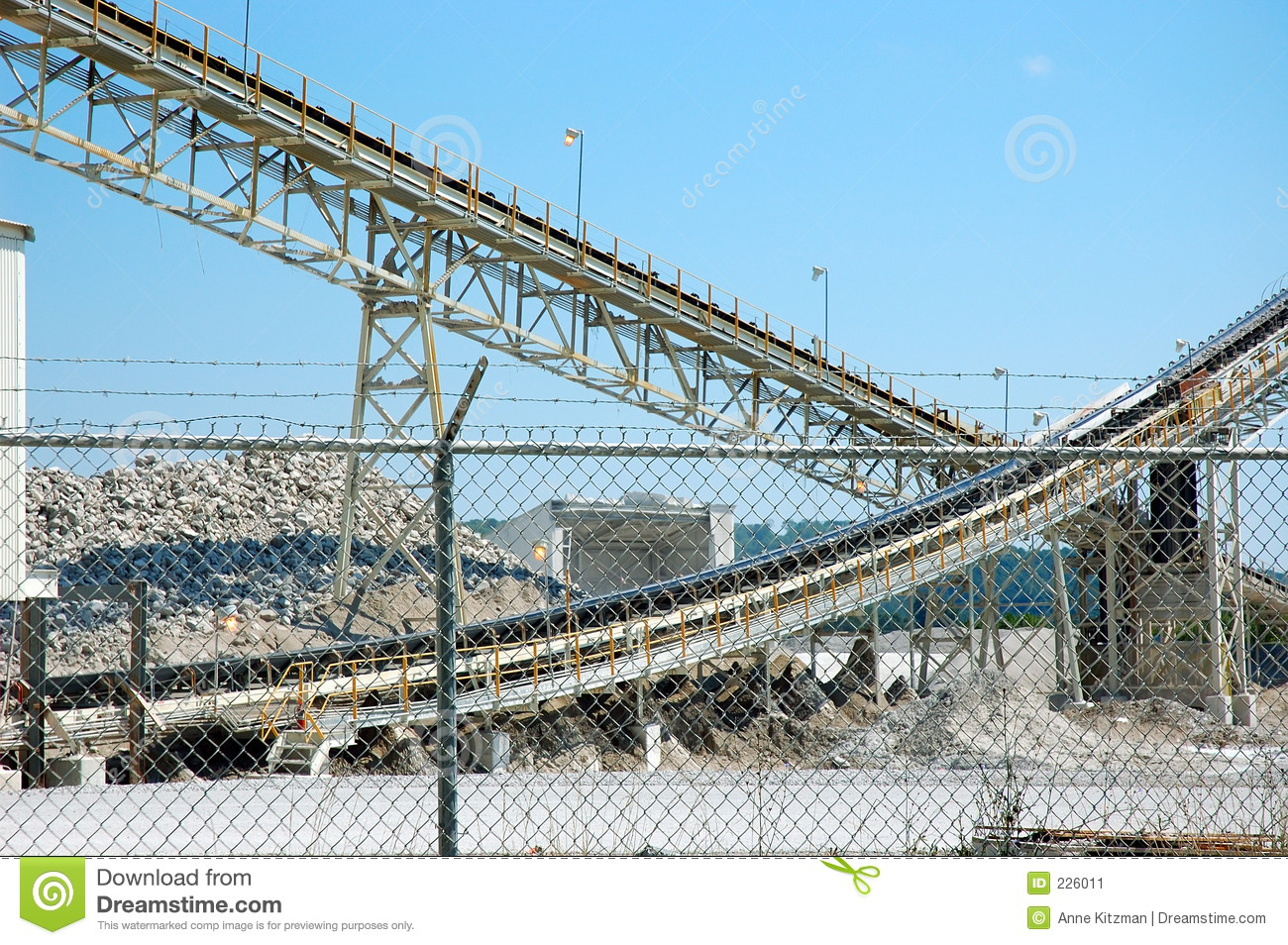 Download Limestone Mining Conveyors stock image. Image of industry - 226011