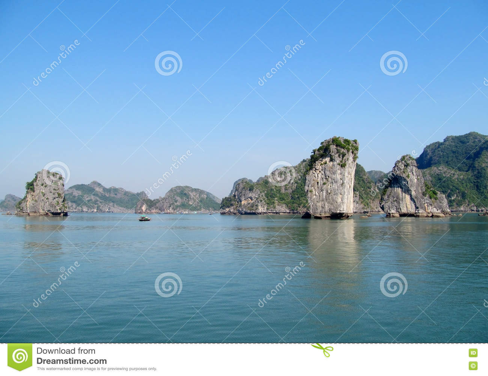 Limestone rocks in Ha Long bay