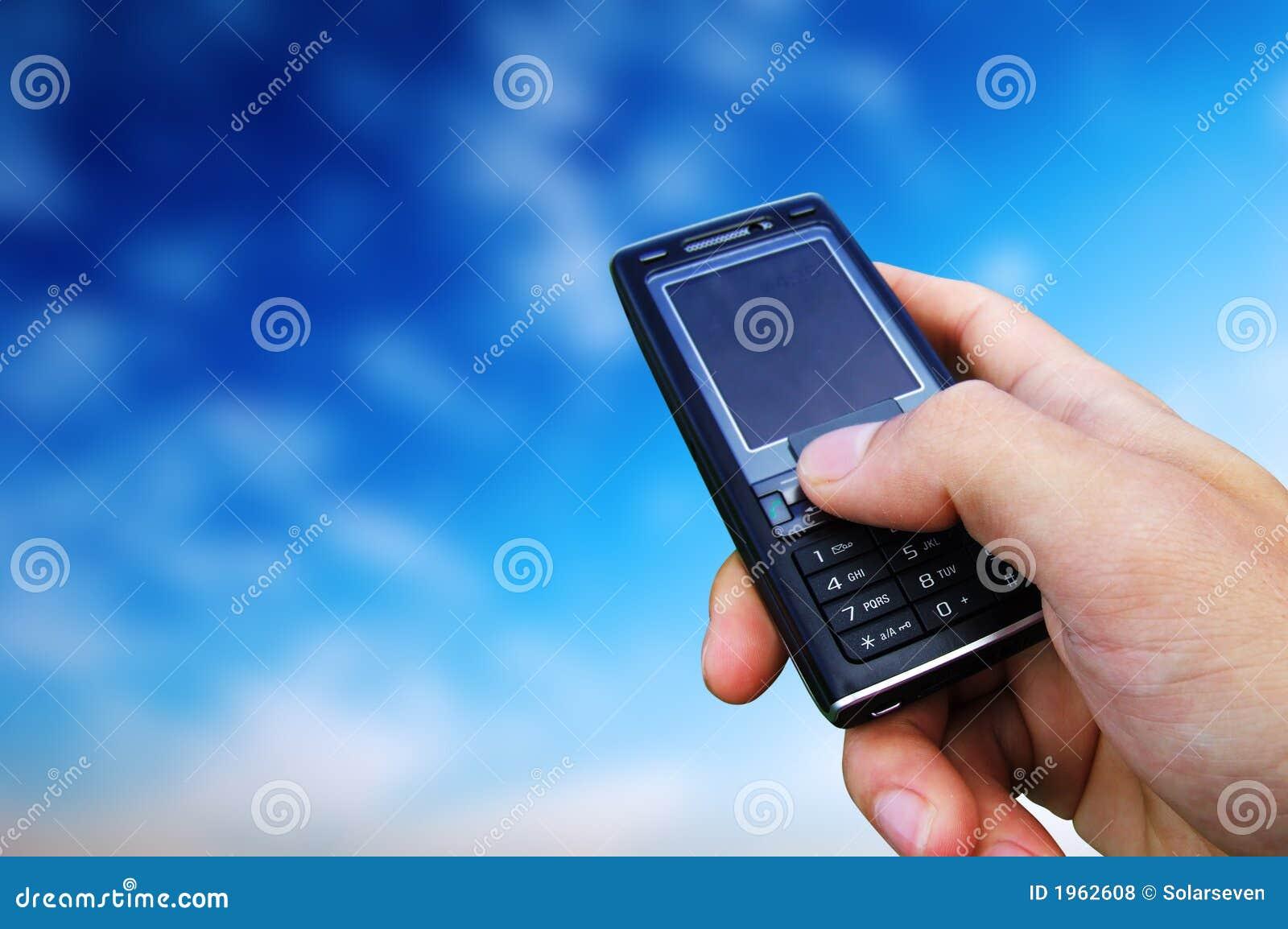 Limite del cielo del telefono mobile fotografia stock for Mobile telefono