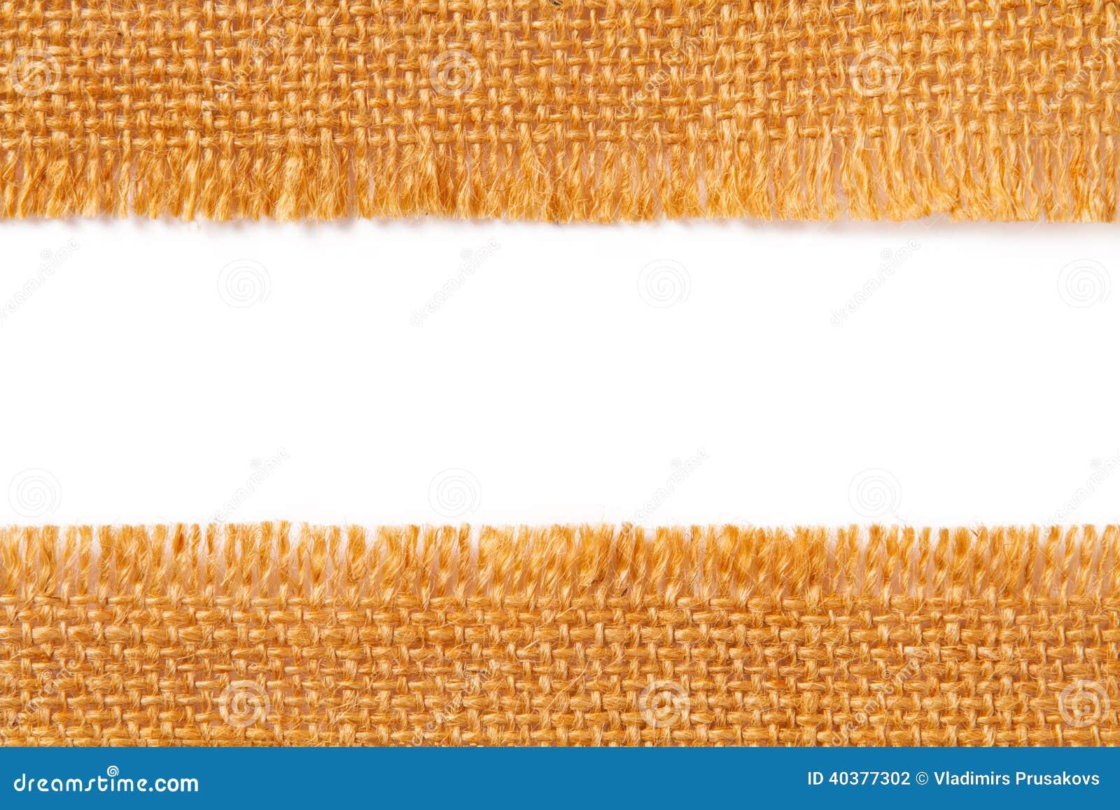 Limite a textura da tela do pano de despedida de linho rasgado, borda rasgada o