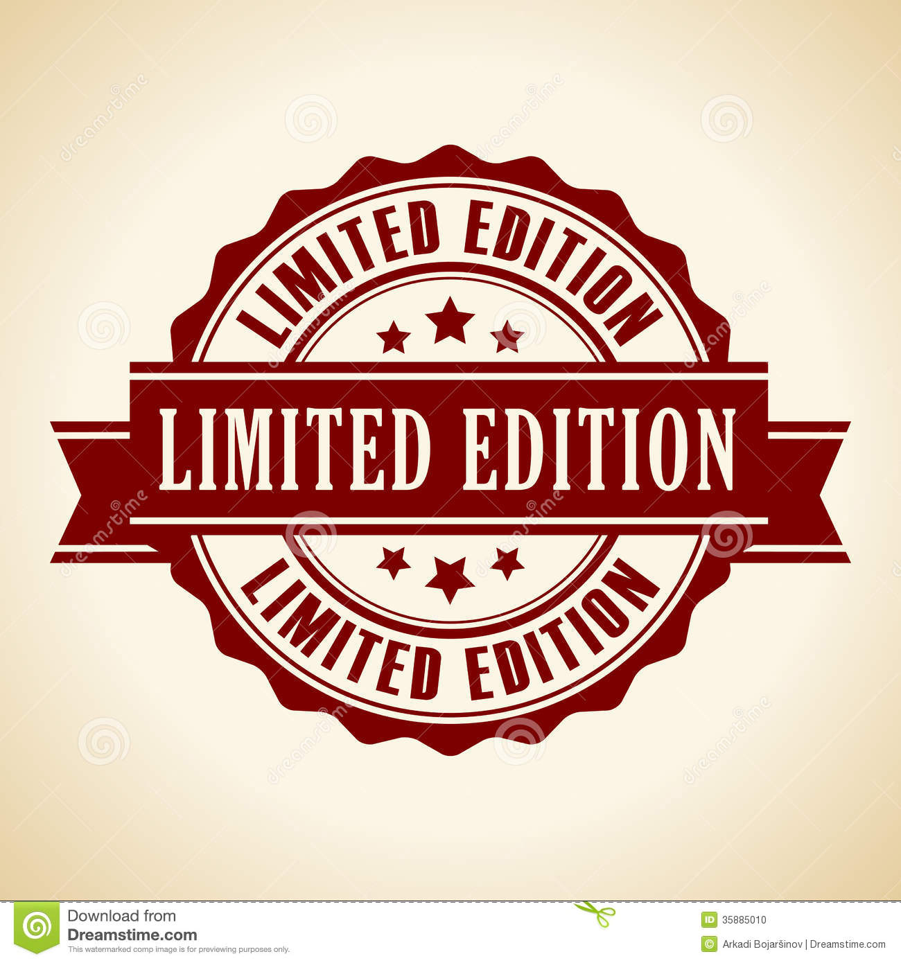 Limited edition icon stock vector. Illustration of poster ...
