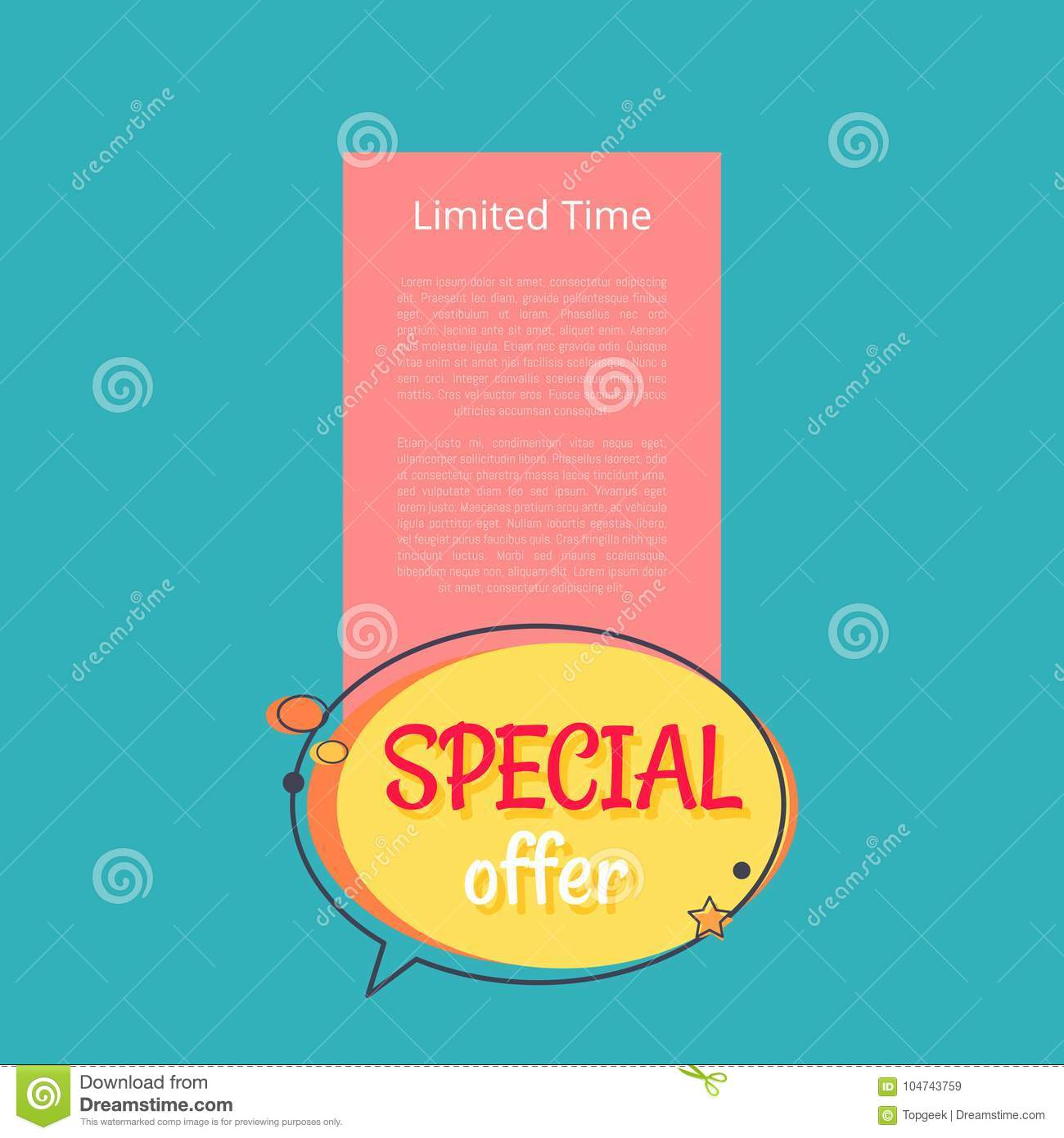 87e60a390 Limited Time Special Offer Sale Advert Poster Stock Vector ...
