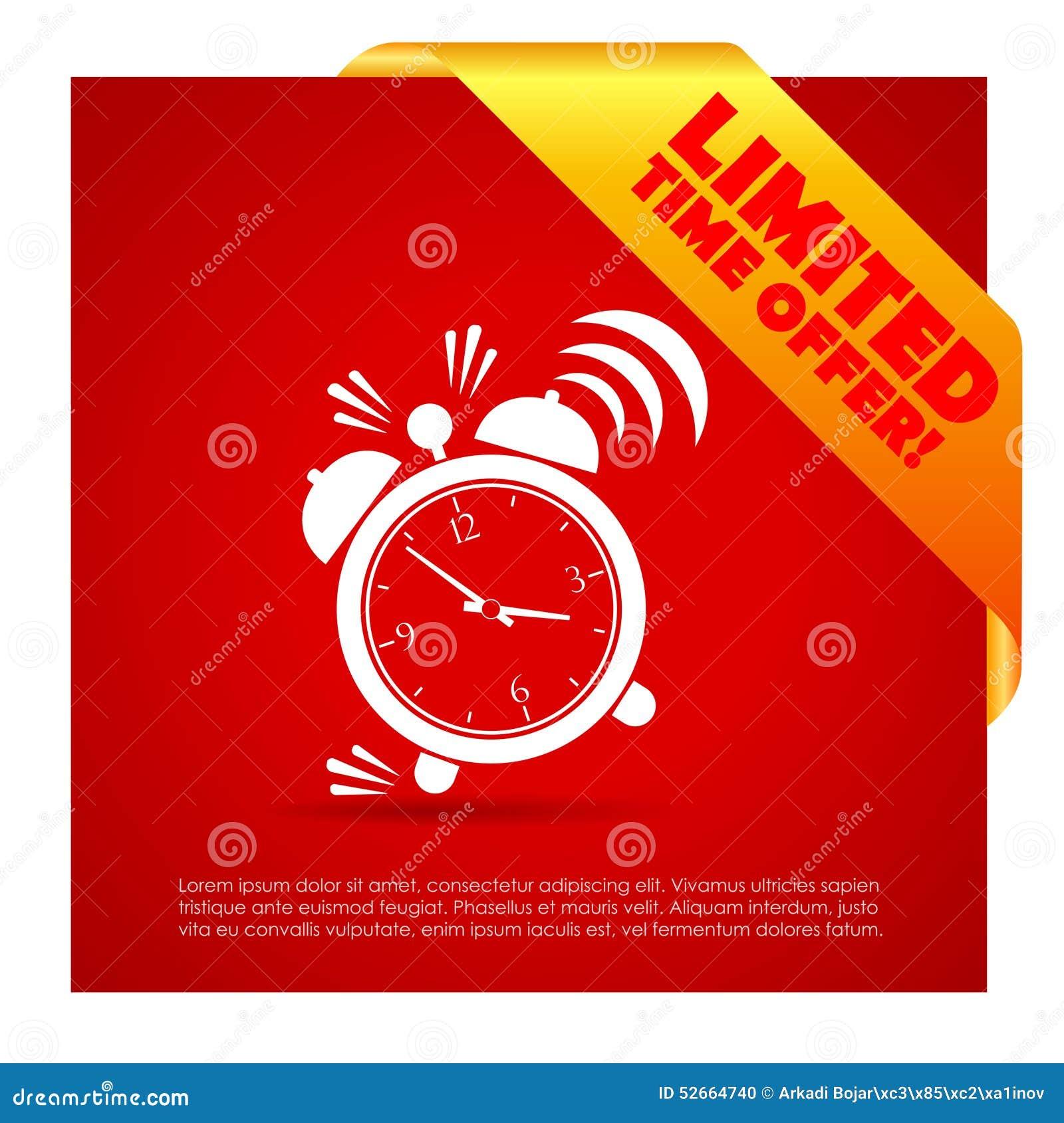 Limitowany czas oferty plakat