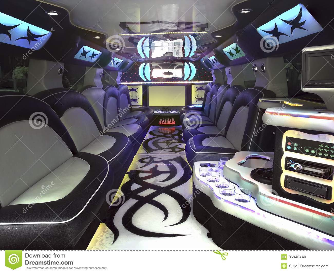 Limo inside stock photo image of empty automobile for Inside interieur